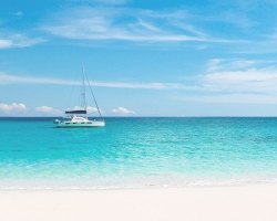 Sail Boat in turquoise waters