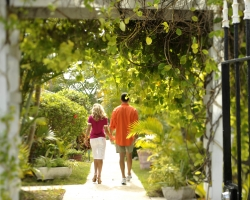 Couple Walking in Gardens